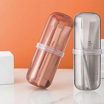 2 pcs PortableWash cup set Outdoor Travel Camping Toothbrush Storage Organizer Case Accessories