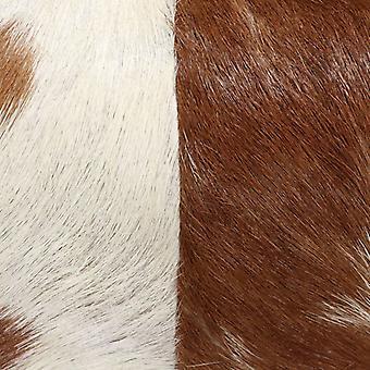 vidaXL Kruk Echt Geitenleer Bruin 60 x 30 x 50 cm