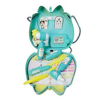Tohtori 1 sarja 16kpl lasten lelusetti keittiö ruoanlaitto set kosmetiikka laukku lääkäri lastentarha lahja dt5282