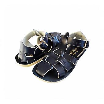 SUN-SAN / SALT-WATER Shark Navy Sandals