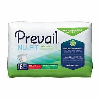 أول جودة للجنسين سلس البول الكبار وجيزة تسود Nu-Fit علامة التبويب إغلاق المتوسطة القابل للتصرف الامتصاص الثقيل، الأبيض 16 العد