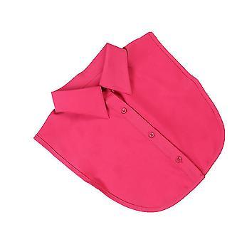 لطيف نصف قمصان التطريز طوق كاذبة موجزة بلوزة قابلة للفصل الأحمر