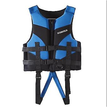 L سترة النجاة للأطفال الزرقاء، السباحة المهنية الغطس سترة الطفو الدافئ az13159