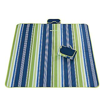 Green and blue 145x180cm outdoor moisture-proof waterproof oxford cloth picnic blanket mat striped park blanket necessary for picnic homi2815