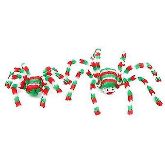 2pcs 50cm Colorful Spider Toy Stuffed Animal Plush Toy For Halloween Decorations Props(Style2)