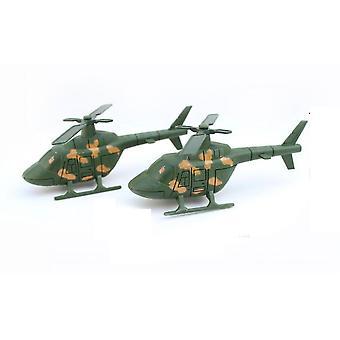 2 stuks mini leger helikopter figuren set militaire simulatie speelgoed 11.5cm