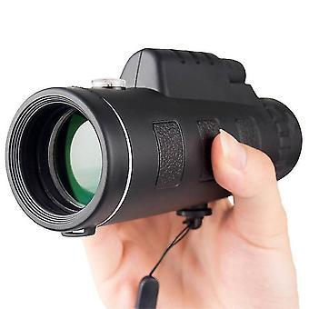 40X60 Zoom High-Definition Monokular Teleskop mit militärischen Stativ Kamera Clip für Handy