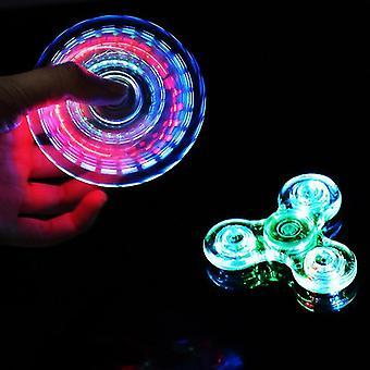 Lichtgevende LED-licht Fidget Spinner Hand Top Spinners Glow in Dark Light EDC Figet Spiner Finger