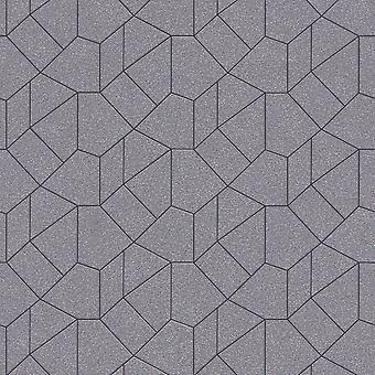 Erismann Carat Geometric Taupe Bakgrund 10062-37