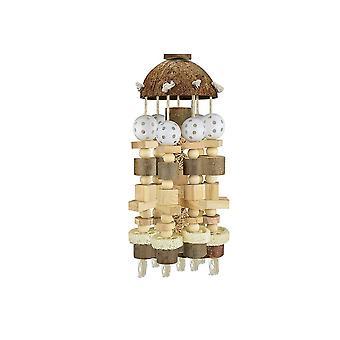 Grote papegaai speelgoed natuurlijke houten blokken vogel kauwen speelgoed papegaai kooi bijten speelgoed| Vogel speelgoed