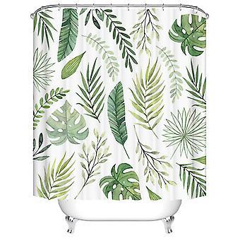 Zasłony prysznicowe Tropical Green Plant Palm Leaf Monstera Łazienka Prysznic Kurtyna Frabic (120 * 180cm)