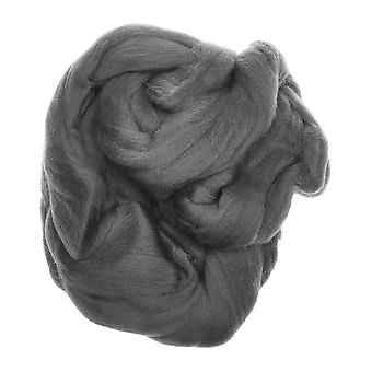100% pura lana nueva para el fieltro de la aguja, 50g - gris