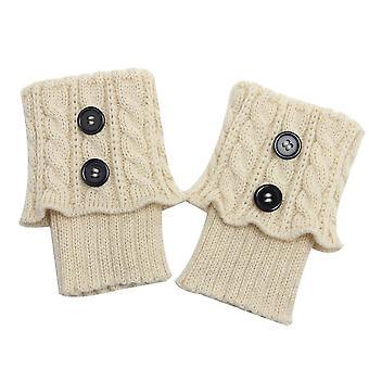レッグウォーマー女性冬編みレッグウォーマーブーツカバーソックス