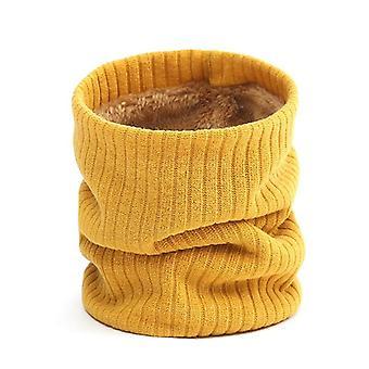 Mujer bufanda de punto, cachemira-como Lady Winter Snood lana caliente, piel, grueso