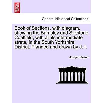 Buch der Abschnitte, mit Diagramm, das das Barnsley and Silkstone Coalfield mit all seinen Zwischenschichten im South Yorkshire District zeigt. Geplant und gezeichnet von J. I.