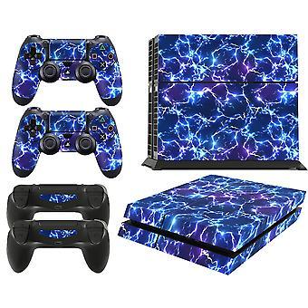 GNG PS4 Konsoll Elektrisk Storm Fra Starwars Skin Decal Vinal Klistremerke + 2 Kontroller Skins Sett