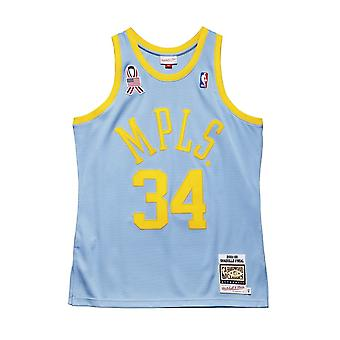 Mitchell & Ness NBA Basketball Débardeur Los Angeles Lakers Jersey Shaquille O'Neal Celeste