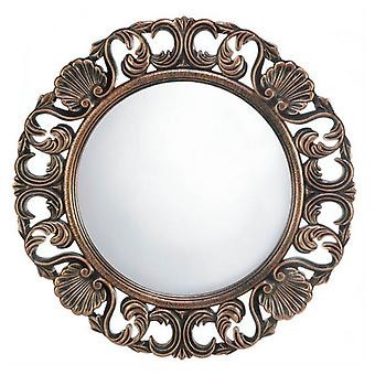 Accent Plus Ornate Wood Frame Flourish Wall Mirror, Pack of 1