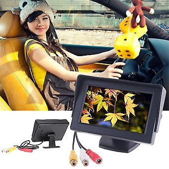 """4.3"""" Tft Lcd Car Monitor With Reverse Rearview Color Camera Dvd Vcr Cctv"""