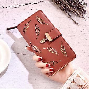 Women Clutch Leather Long Card Holder Wallet