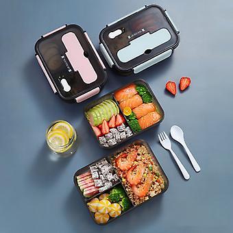 1100ml / 1500ml Microondas Lonchera para Niños Contenedor de Alimentos Almacenamiento Aislado Contenedor de Almuerzo Bento Caja Japonesa Snack Box Cajas de Desayuno