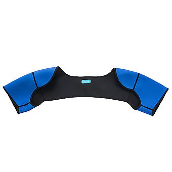 Blue Double Shoulder Wrap Brace Rotator Cuff Arm Pain Relief Hot Therapy For Man And Women Xl