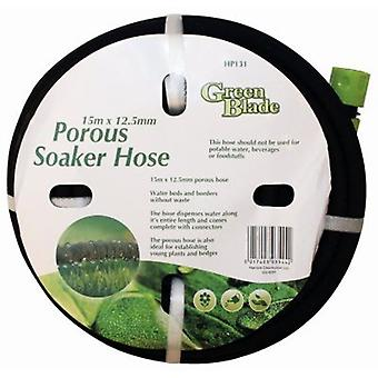 15 Meter Porösa soaker slang Trädgård växt Bevattning Rör med kontaktdon