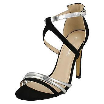 Dames Anne Michelle hoge hak Mule Strappy sandalen F10695