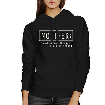 Mother Therapist And Friend Black Hoodie Best Mothers Day Gift Idea