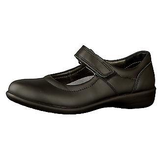 Ricosta Girls Beth School Shoes Black Leather