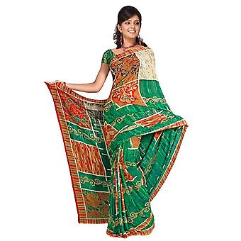 Girisha Georgette afgedrukt Casual Saree Sari buikdansen stof