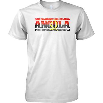 Angola Grunge Country Name Flag Effect - Kids T Shirt