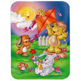 Carolines Treasures  APH0975LCB Play Time Animals Glass Cutting Board Large