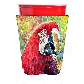 Carolines Treasures  8607RSC Parrot Red Solo Cup Hugger