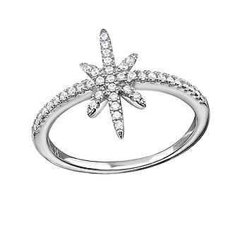 Star - 925 Sterling Zilver Jewelled ringen - W34338x