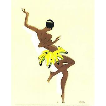 Black Thunder (Josephine Baker) Poster Print by Paul Colin (10 x 12)