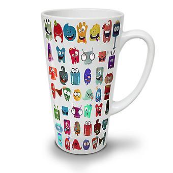 Crazy Silly Print NEW White Tea Coffee Ceramic Latte Mug 17 oz | Wellcoda