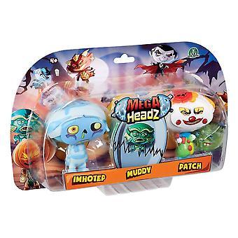 Mega Headz Triple Figure Pack Characters At Random