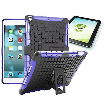 Υβριδική εξωτερική προστατευτική θήκη βυσσινί για iPad Air 1 θήκη + 0,4 H9 σκληρυμένο γυαλί