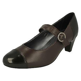 Impresionante de las señoras de tacón zapatos de Mary Jane estilo Jean
