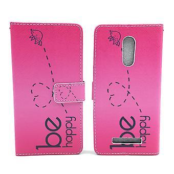 Matkapuhelin tapauksessa pussi mobiili Xiaomi Redmi Huomautus 3 olla onnellinen vaaleanpunainen