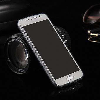 Pokrywa obudowy Crystal dla Samsung Galaxy J3 pojawiają się szara ramka całego ciała