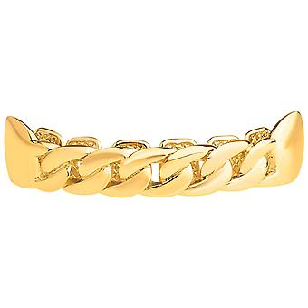 One size fits all top Grillz - curb chain necklace gold