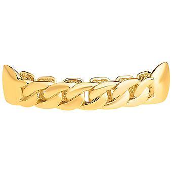 Один размер подходит для всех топ Grillz - снаряженная цепи ожерелье золота