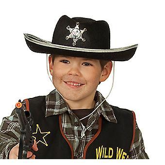 Chapeau de Cowboy noir enfants