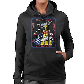 NASA STS 118 transbordador Endeavour misión parche mujeres camiseta de encapuchados
