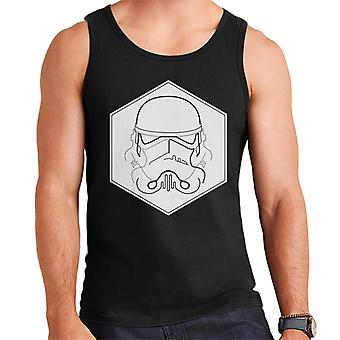 Alkuperäinen Stormtrooper Line Art kuusikulmio miesten liivi
