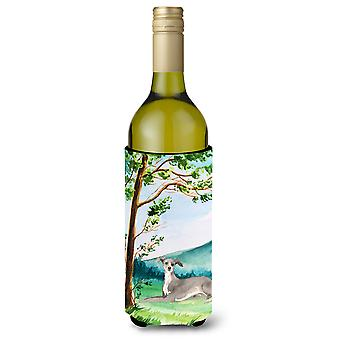 Under the Tree Italian Greyhound Wine Bottle Beverage Insulator Hugger