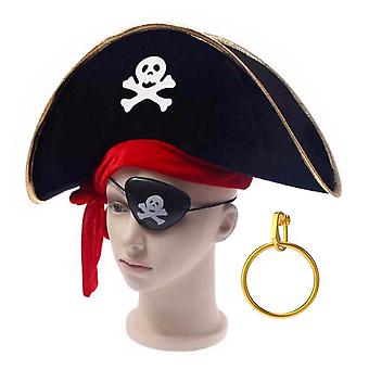 TRIXES 3PC Pirate accessory pack for Fancy dress themed Birthday Stag Parties