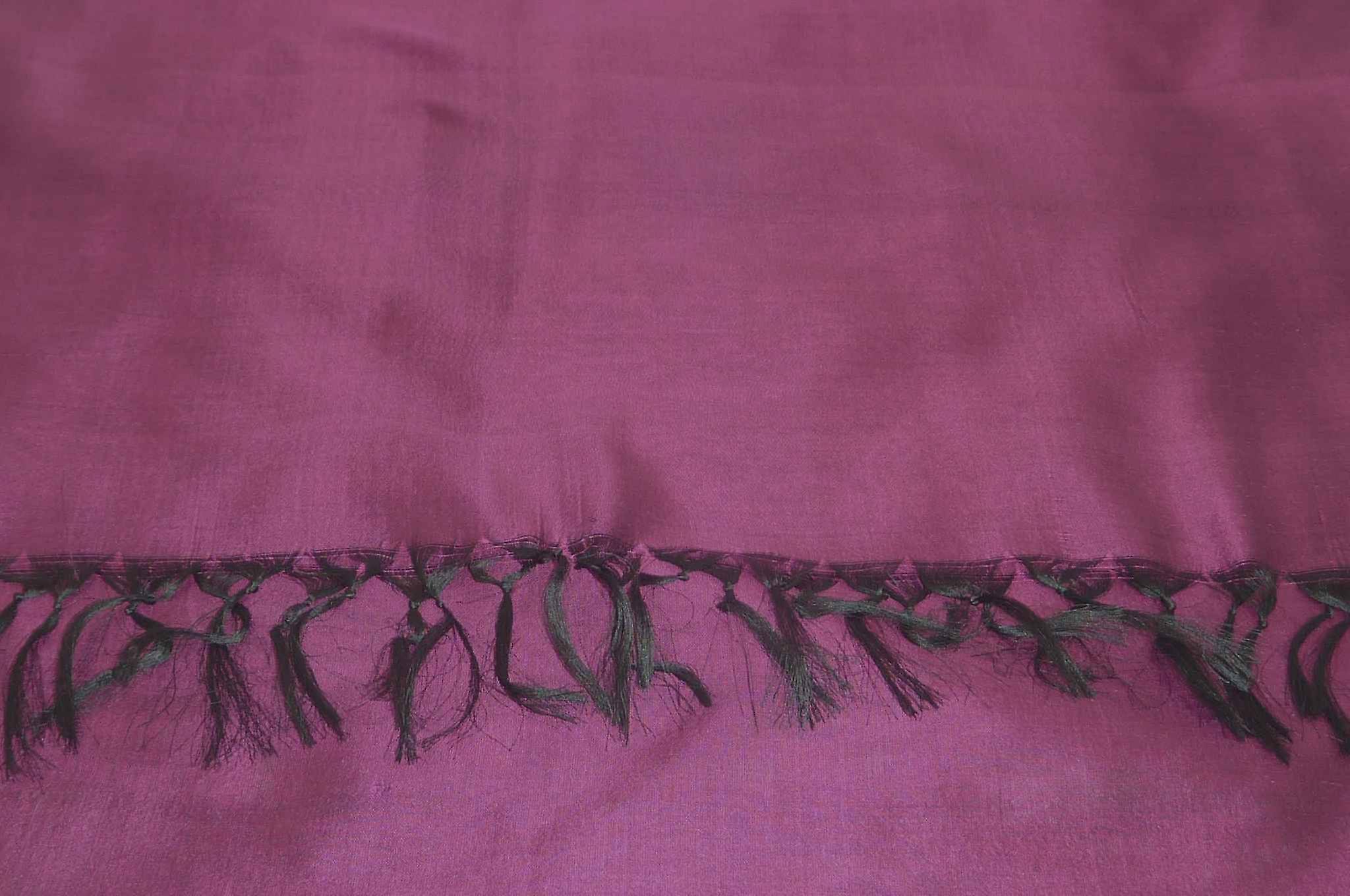 Varanasi Silk Long Scarf Heritage Range Nara 3 Hibiscus by Pashmina & Silk